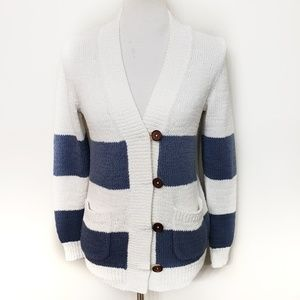Madewell Chunky Knit Nautical Striped Sweater
